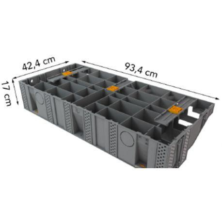 Escalier modulesca 100 cm bois ou dalle