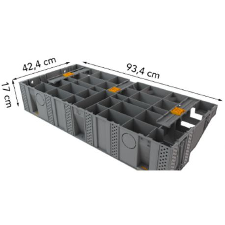 ESCALIER D'EXTERIEUR BOIS 100 cm modulesca