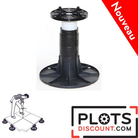 Adjustable pedestal 225 265 mm for slabs, tiles or ceramics