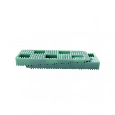 Sachet de 30 Cales crantées multi-usages - 80 x 30 x 10 mm VERTES