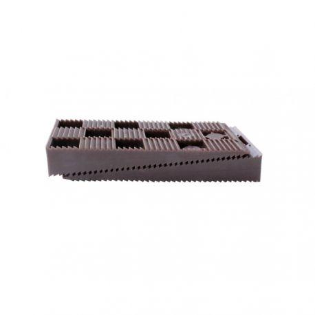 Cales crantées terrasse bois 90 x 45 x 15 mm marrons - 16 pièces