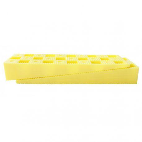 Cales crantées terrasse bois 150 x 45 x 25 mm jaunes - 6 pièces