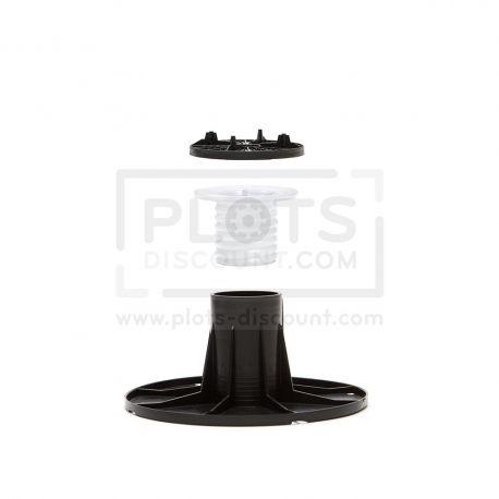 Adjustable pedestal 105 145 mm for slabs, tiles or ceramics