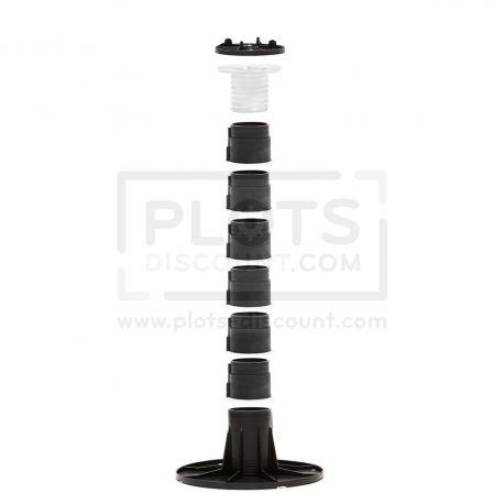 Adjustable pedestal 305 345 mm for slabs, tiles or ceramics