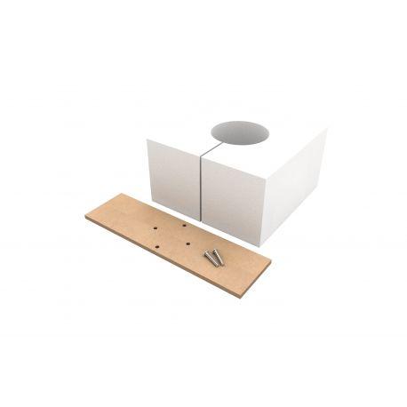 Kit réservation polystyrène 180x180x100 + plaque mise a niveau pour (1x) BFB160