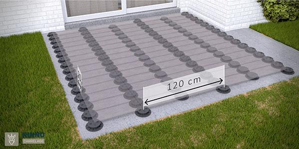 carrelage pour terrasse sur plots imitation bois. Black Bedroom Furniture Sets. Home Design Ideas