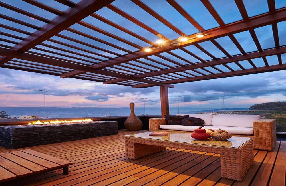 Balcon terrasse en bois