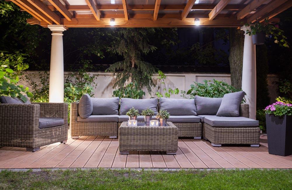 Terrasse très déco pour jardin