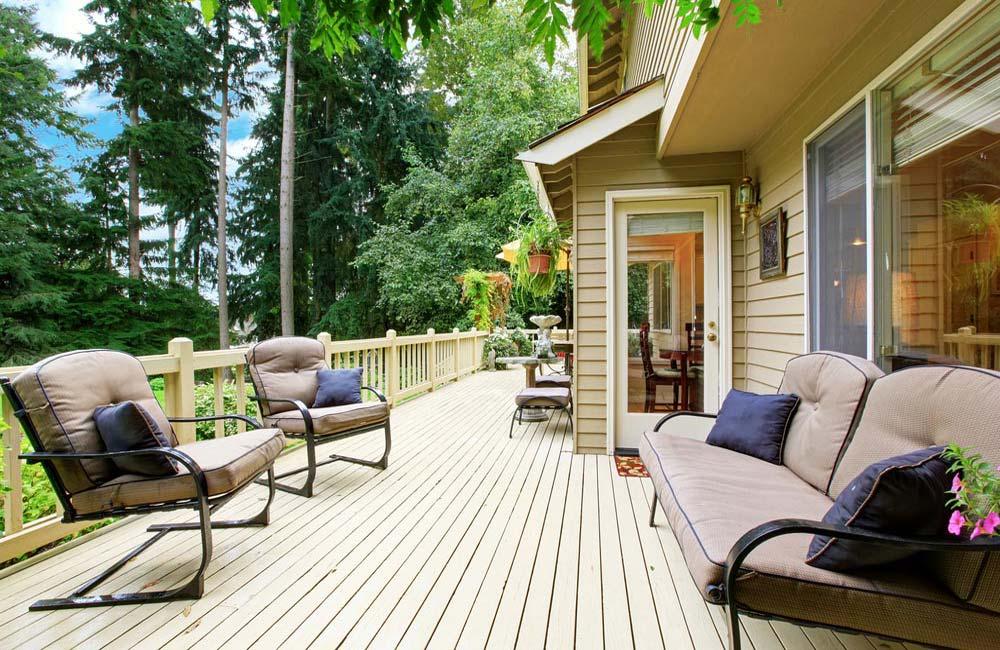 Terrasse pour jardin en bois