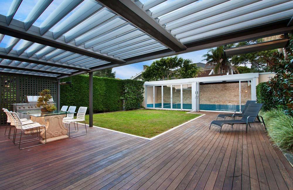 Terrasse à plots pour lambourde